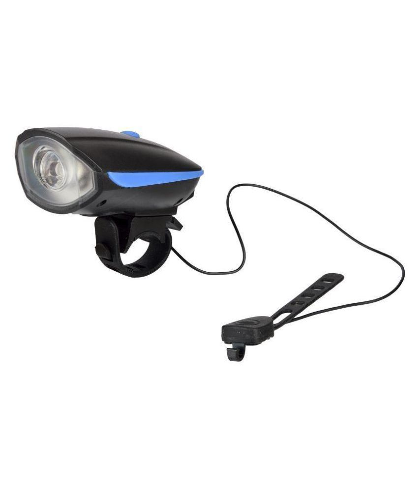 DarkHorse Bicycle CE Standard USB Rechargeable 3 Mode Front light and Horn 2 in 1 Light/Horn, Blue
