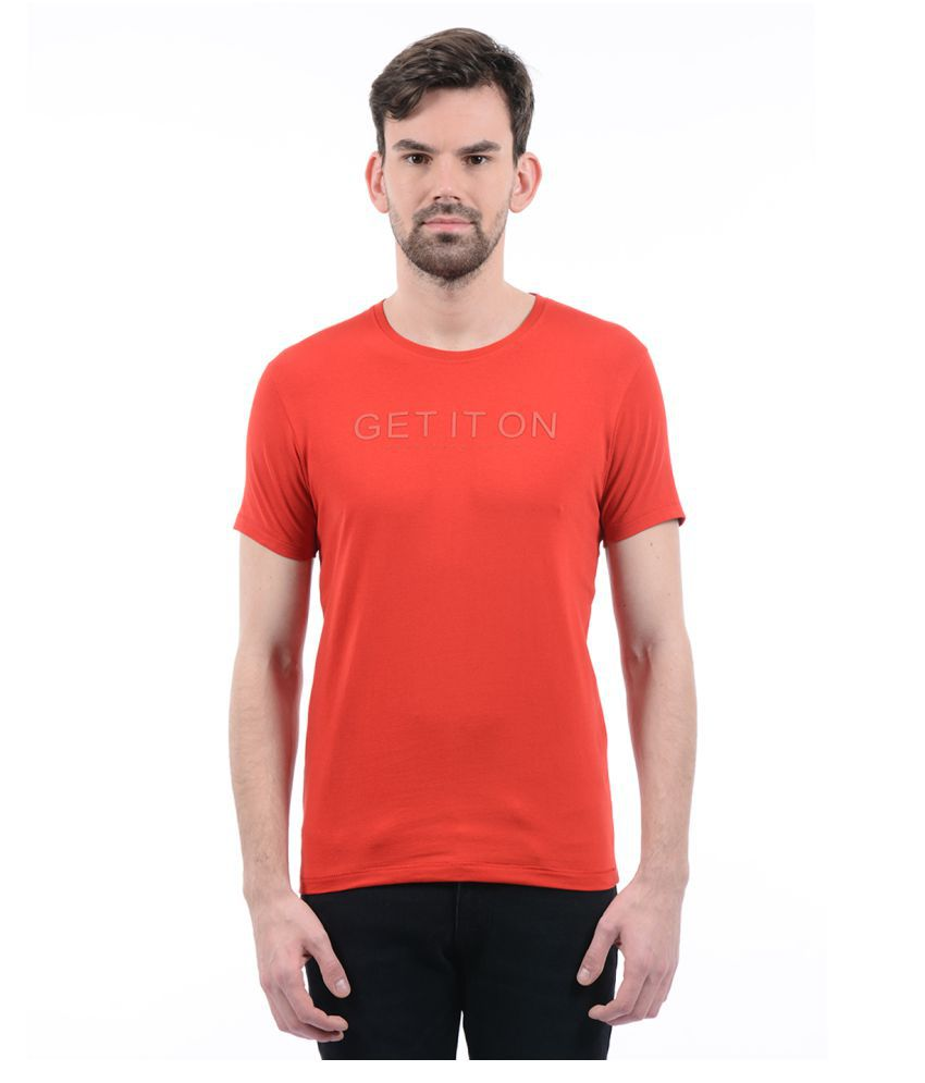 Pepe Jeans Red Round T-Shirt Pack of 1