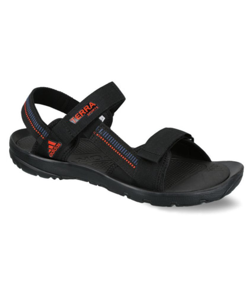 f0a1ce4e2a29 Adidas Terra Sport Black Floater Sandals - Buy Adidas Terra Sport Black  Floater Sandals Online at Best Prices in India on Snapdeal