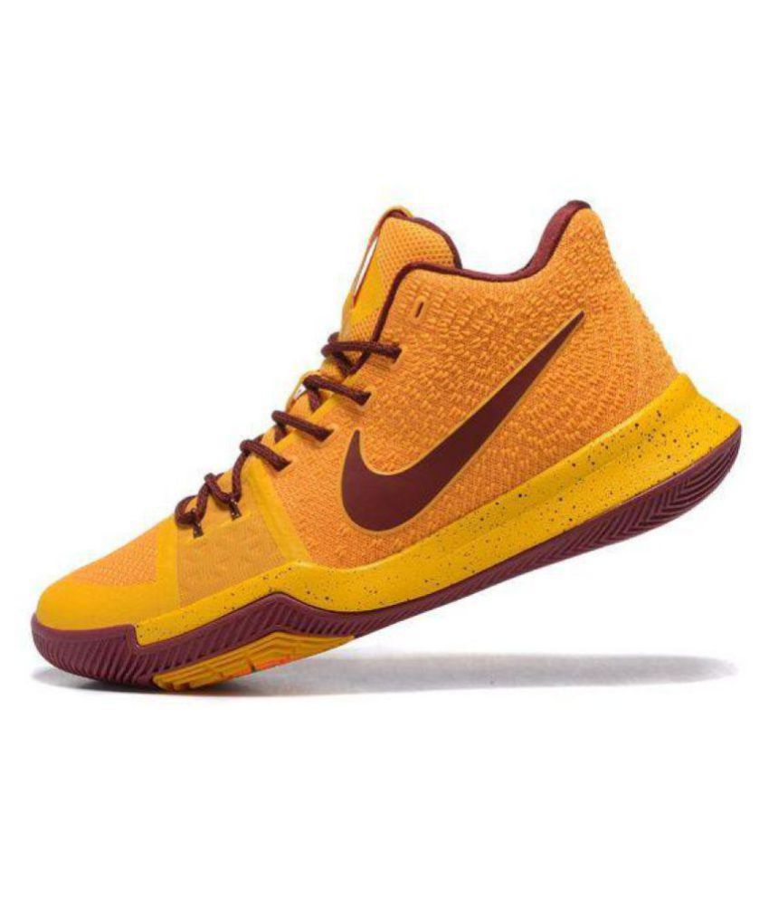 67bbdedec8bc Nike kyrie irving 3 Yellow Basketball Shoes - Buy Nike kyrie irving 3 Yellow  Basketball Shoes Online at Best Prices in India on Snapdeal