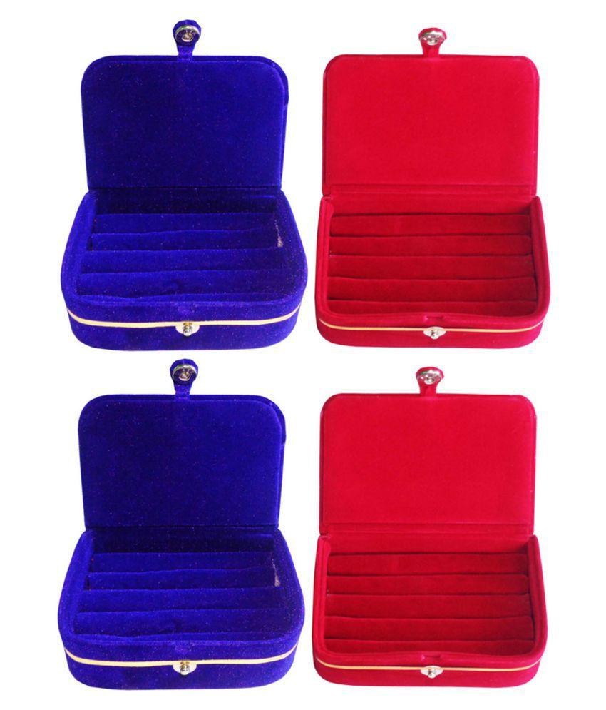 Afrose Combo of 2 pcs earEar ring folder and 2 pcs Ear ring jewelry box