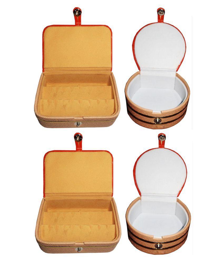Sabita Combo 2 pc  ear ring box and 2 pc bangle box jewelry vanity case