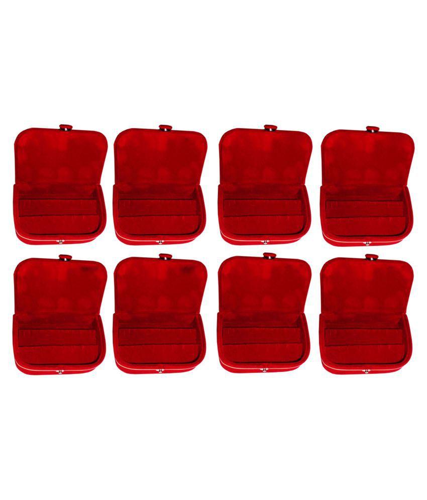 Sabita Set of 8 velvet Earring folder Ring box jewelery case ring storage ear ring travelling folder