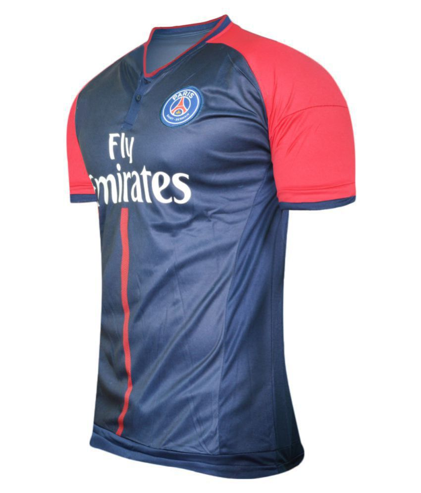 bd9fb192761 PSG Navy Polyester Jersey - Buy PSG Navy Polyester Jersey Online at Low  Price in India - Snapdeal