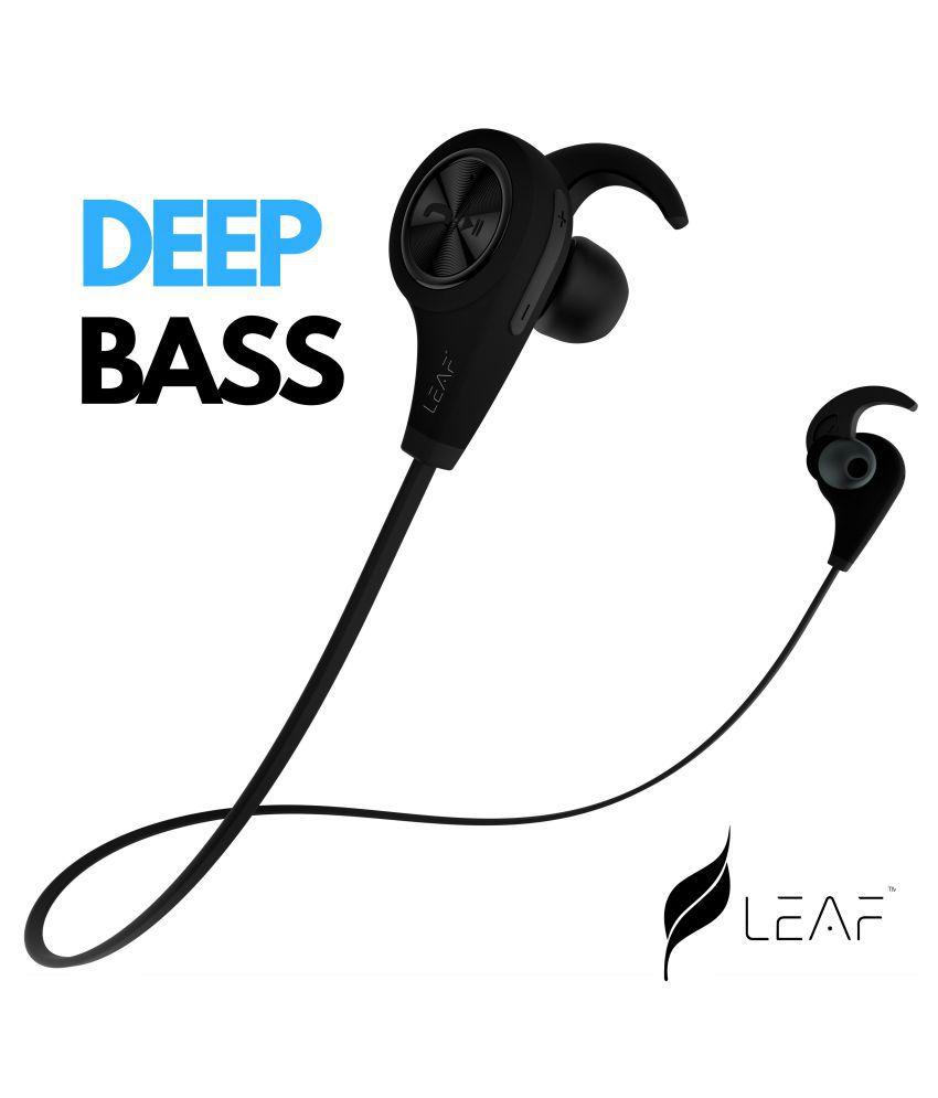 Leaf Ear Deep Bass Earphones- In Ear Wireless Earphones With Mic