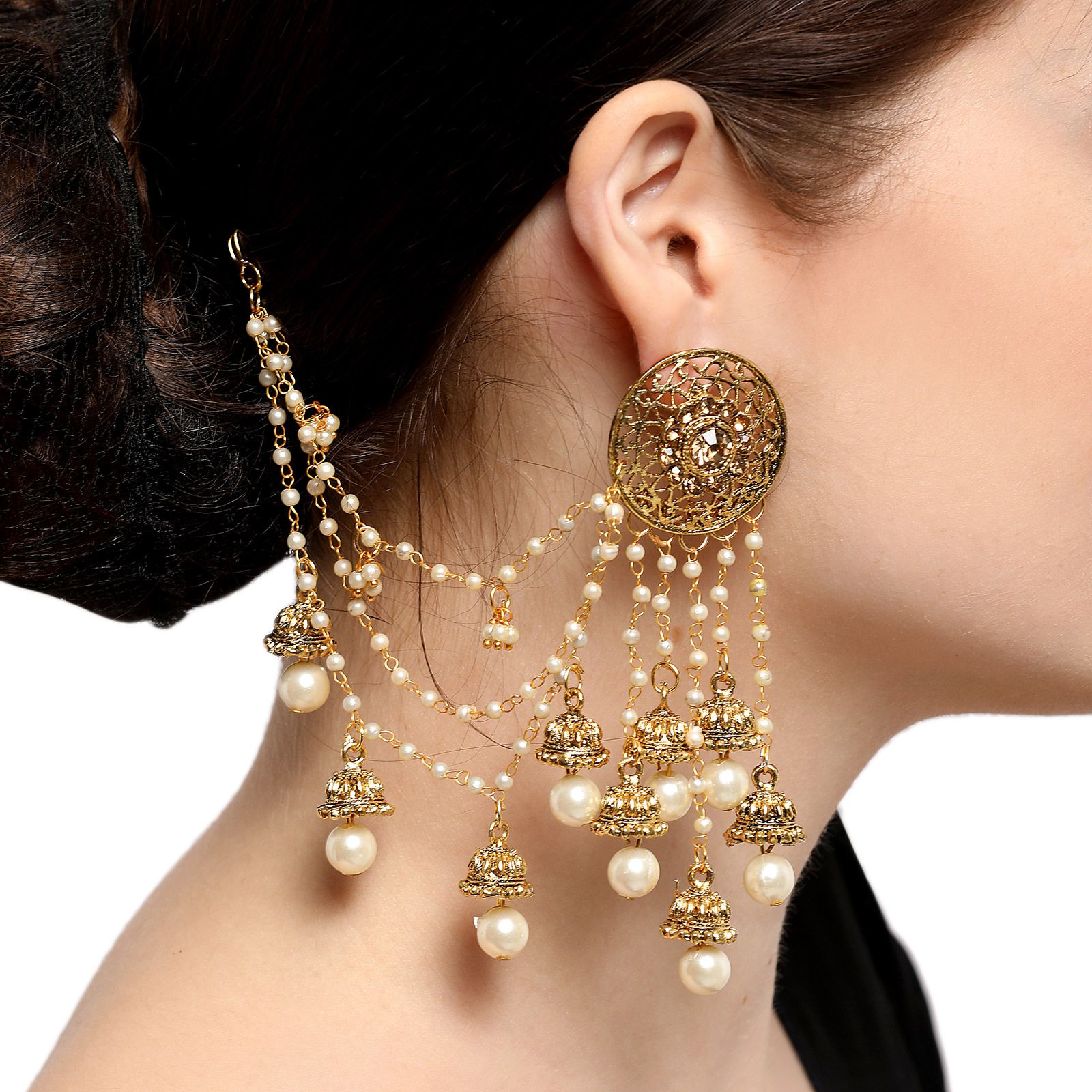 cm gold folli lady en earrings hires plated follie bubble rose jewellery long