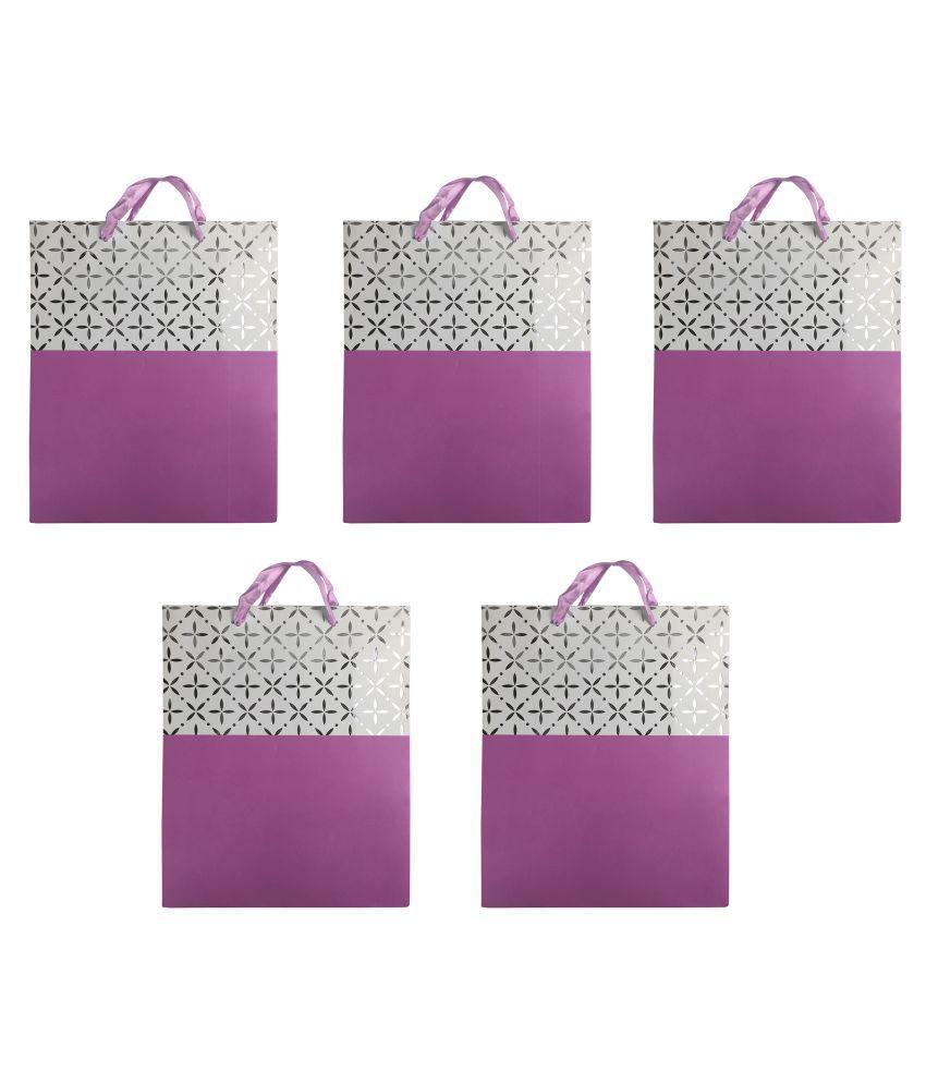 Bag Of Small Things Purple Paper Bags - 5 Pcs