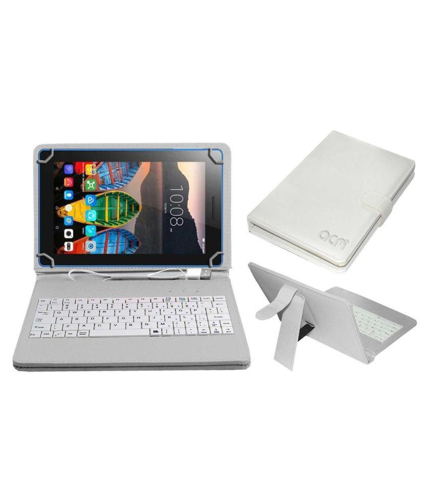 Lenovo Tab 3 7 Essential Keyboard Cover By ACM White