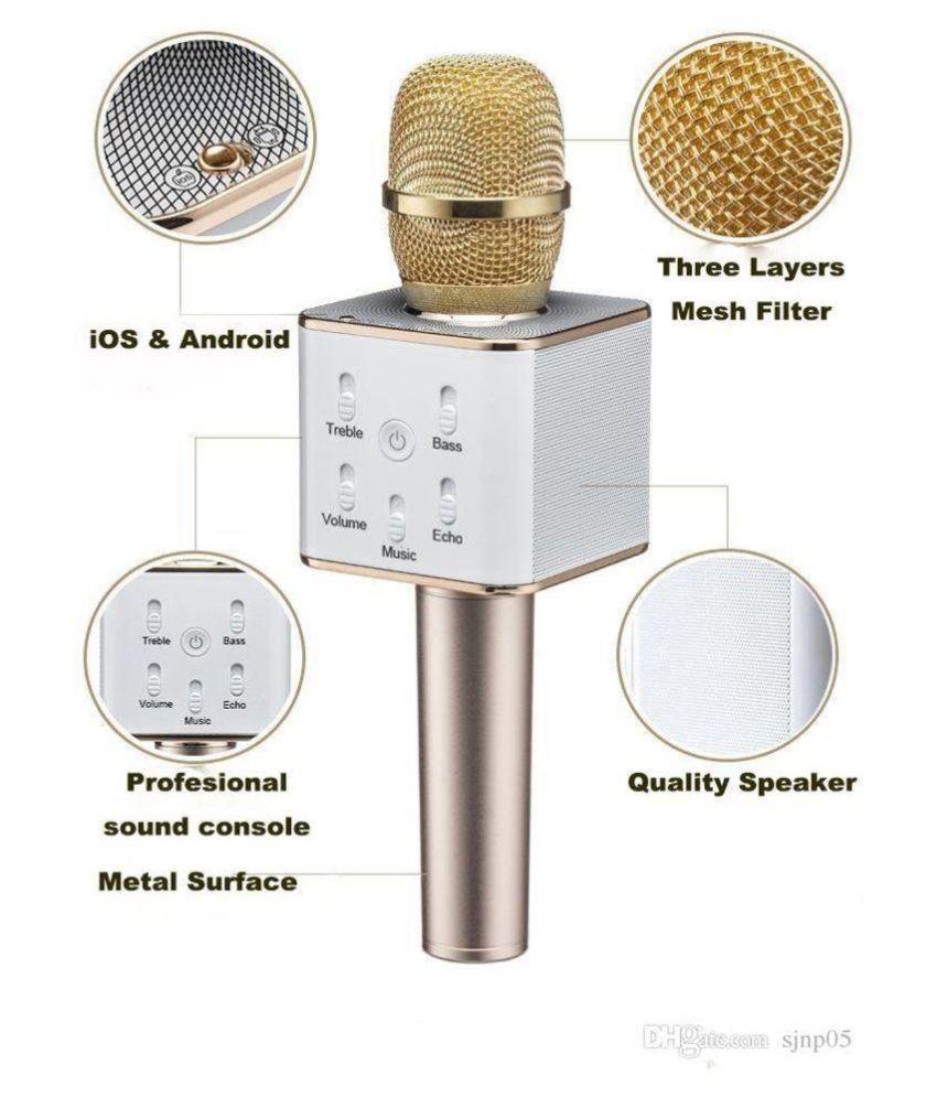 Sanyal Q7 Portable Wireless Mic Bluetooth Speaker Microphone