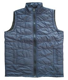FREEDOM FASHION Blue Quilted & Bomber Jacket