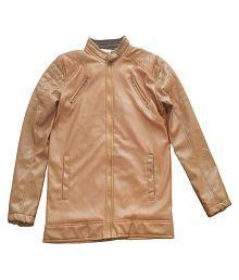 FREEDOM FASHION Brown Leather Jacket