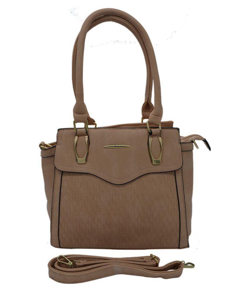 Glitters Online Beige P.U. Shoulder Bag