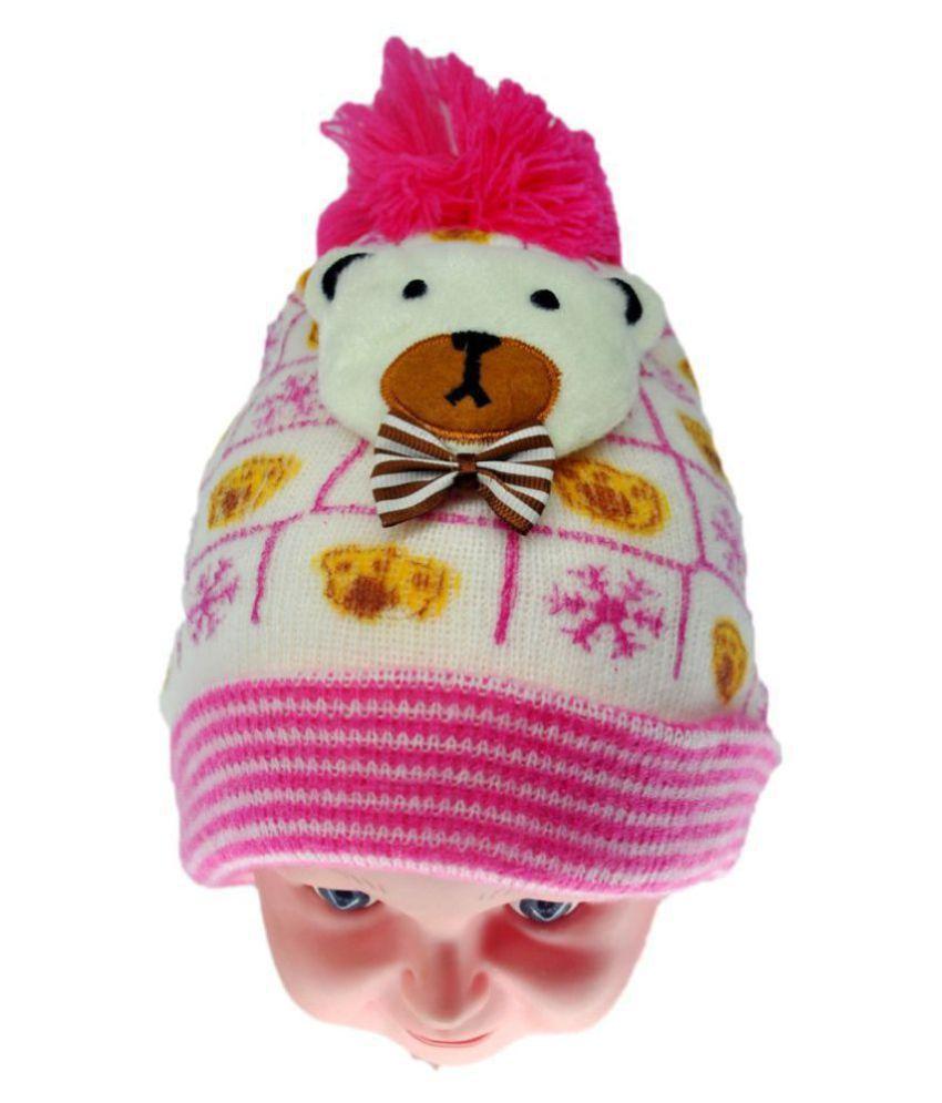 Kixds Winter Cap / Woolen Cap ( Pink )