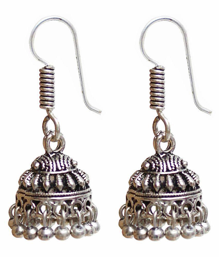 Lucky Jewellery Silver Jhumki
