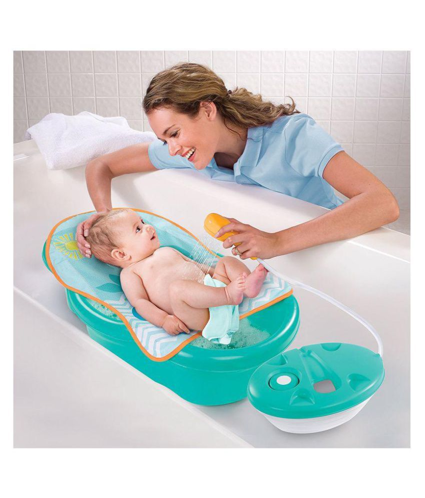 Summer Infant Green Plastic Baby Bath Tub: Buy Summer Infant Green ...