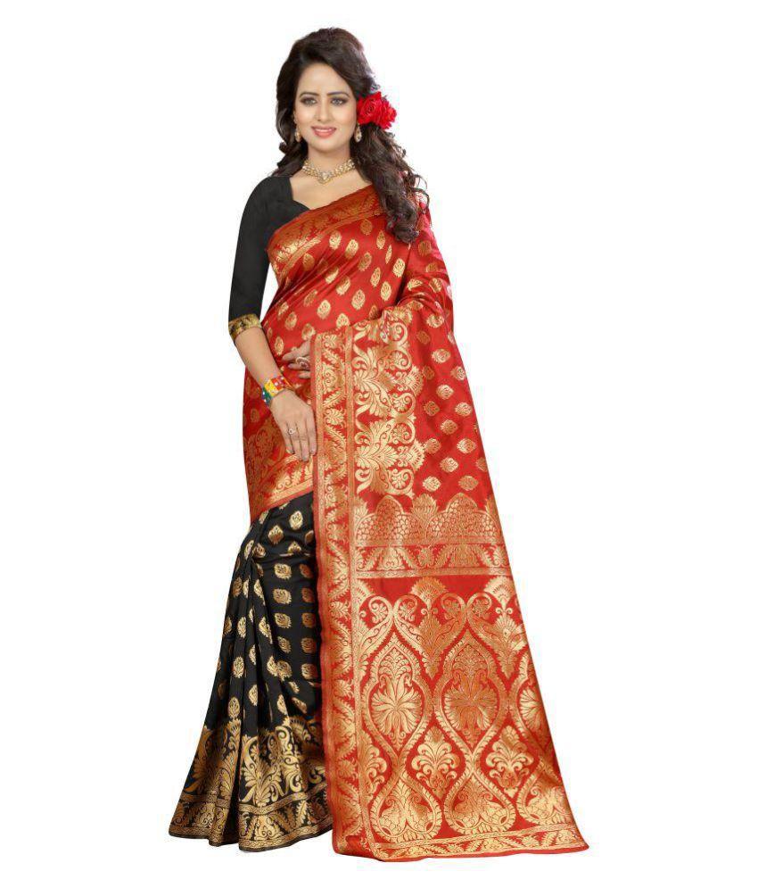The Ethnic Chic Black Banarasi Silk Saree