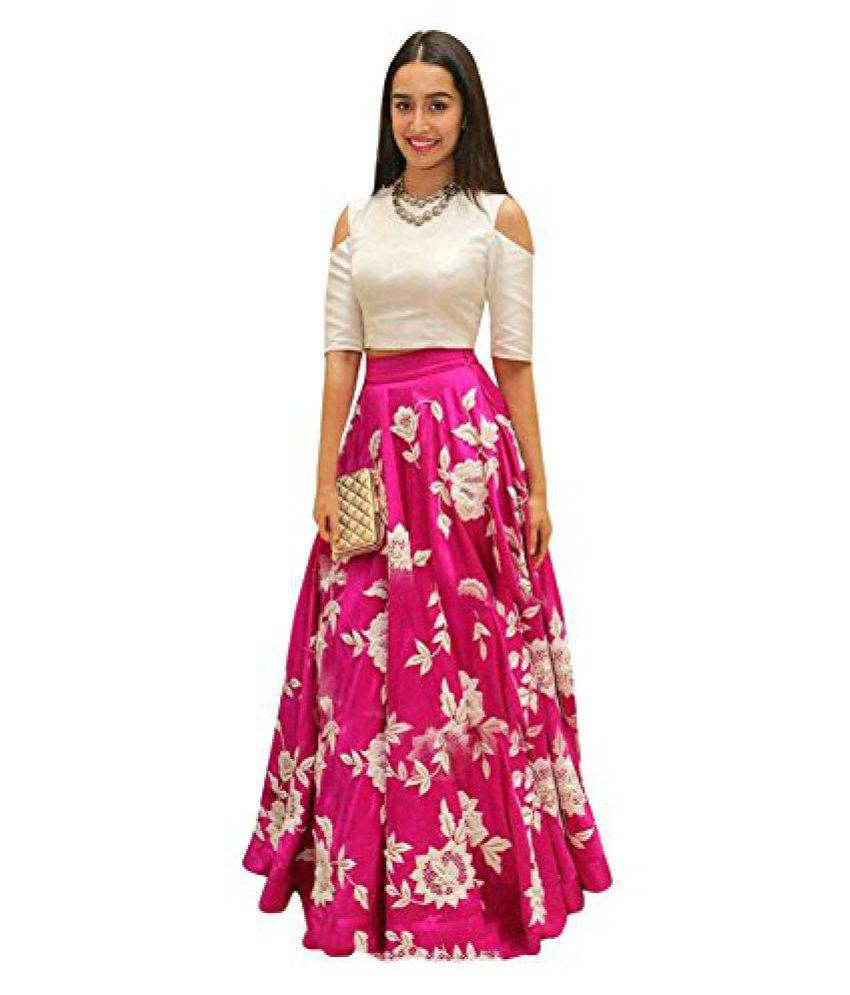 31455a741 Women s Partywear Embroidered Western Gown Dress (pink) - Buy Women s  Partywear Embroidered Western Gown Dress (pink) Online at Low Price -  Snapdeal