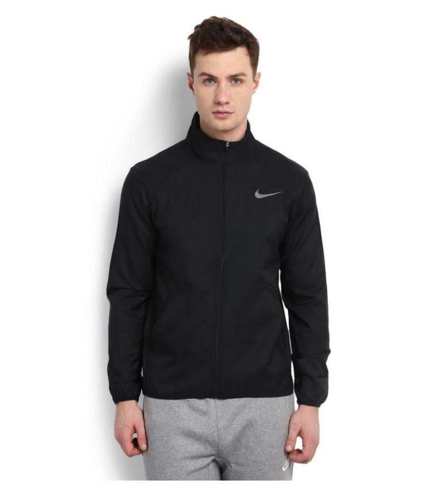 Nike Black Polyster Terry Jacket