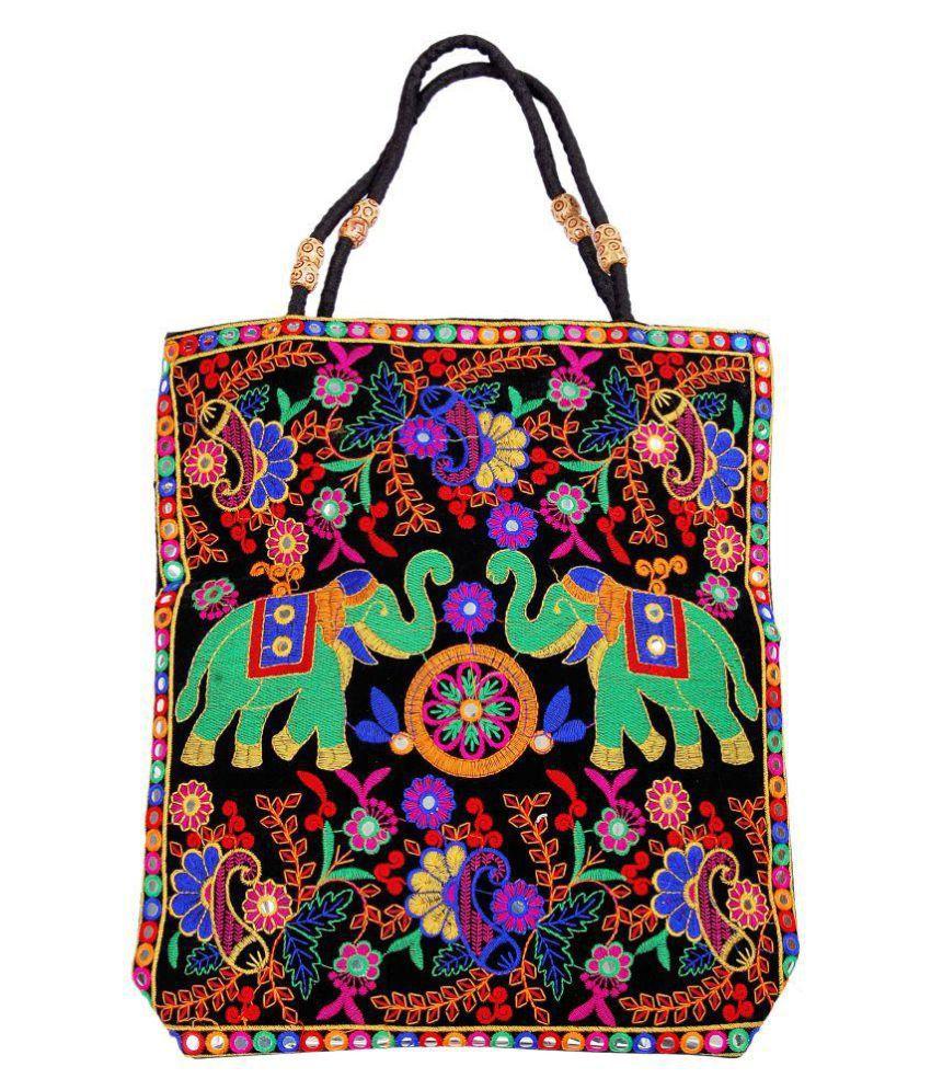 Yokoso International Black Fabric Sling Bag