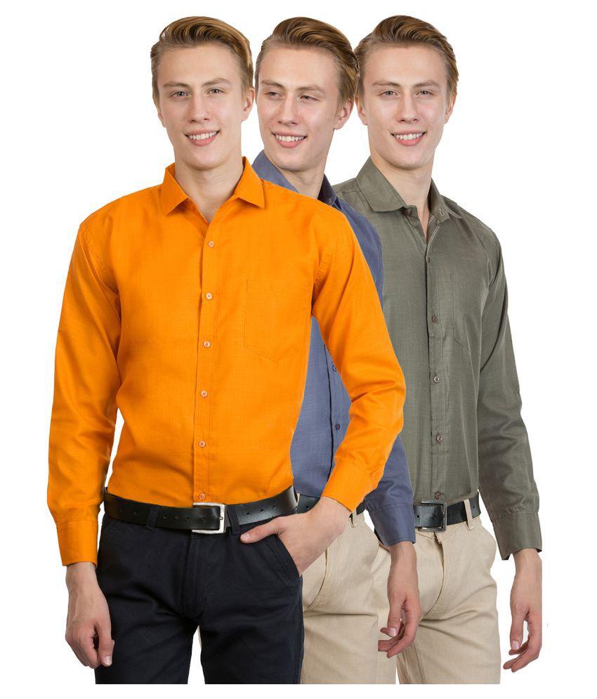 Van Galis Multi Regular Fit Shirt Pack of 3