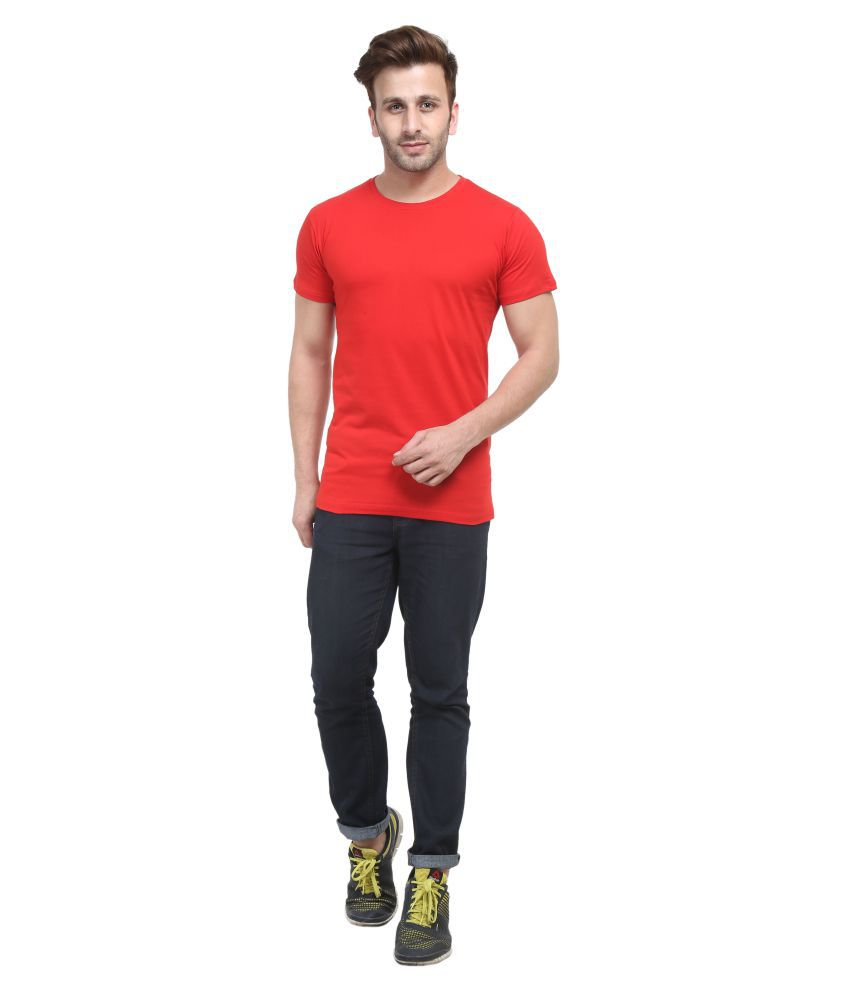 ACOMHARC INC Red Round T-Shirt Pack of 1