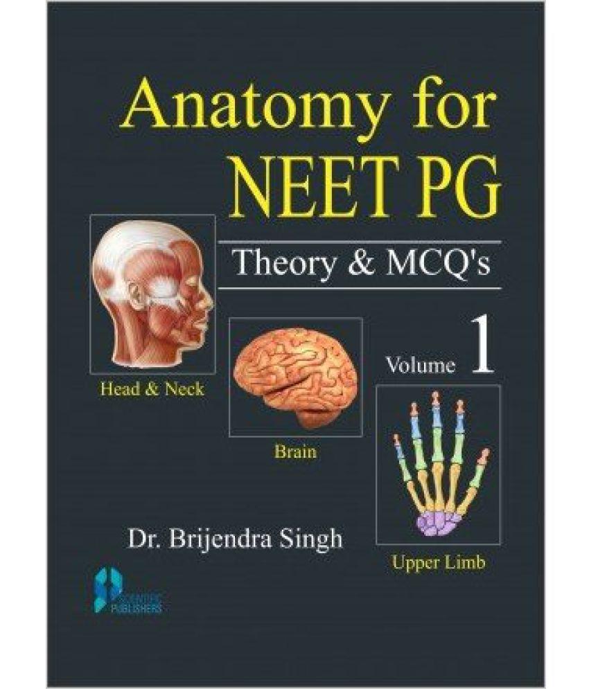 Anatomy For Neet Pg Theory Mcqs Vol 1 Pb Buy Anatomy For