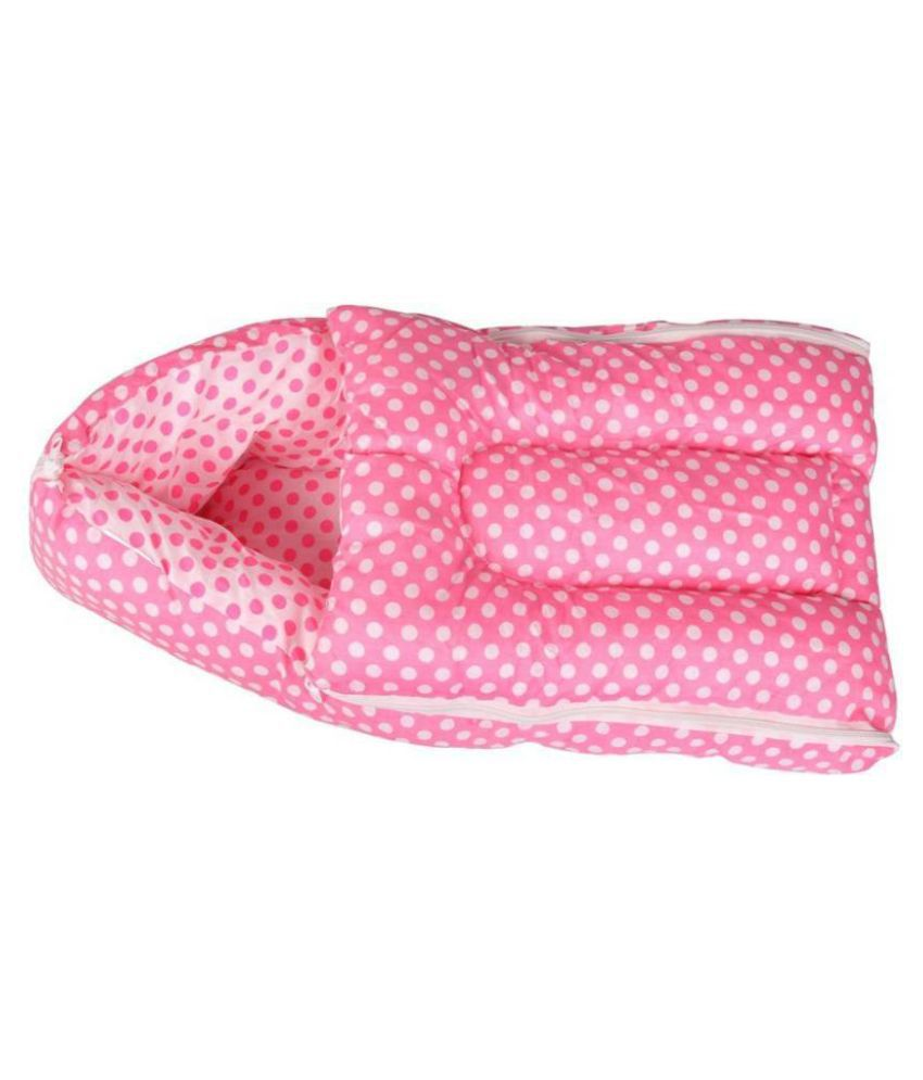 RBC Riya,R Pink Cotton Sleeping Bags ( 76 cm × 41 cm)