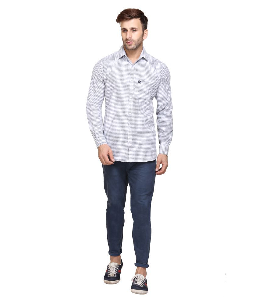 Maggivox White Casual Regular Fit Shirt