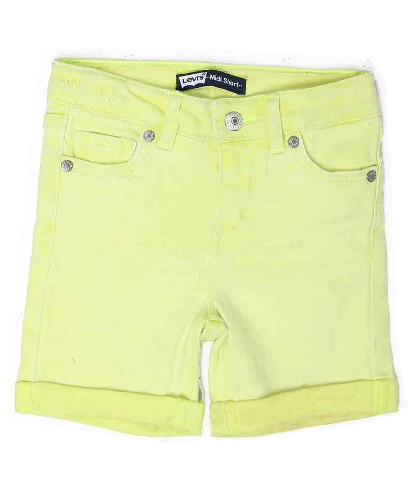 Levi's Girls Yellow Short