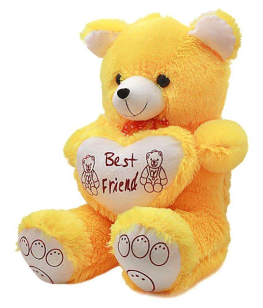 Kashish Trading Company Yellow Teddy bear stuffed love soft toy for boyfriend, girlfriend 60 cm ...