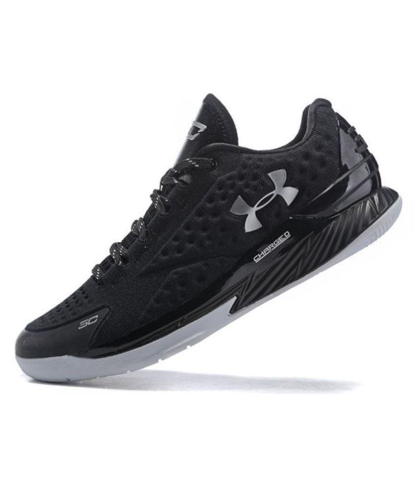 ef4d22855954 Under Armour Men s Stephen Curry 1 Low Black Running Shoes - Buy Under  Armour Men s Stephen Curry 1 Low Black Running Shoes Online at Best Prices  in India ...