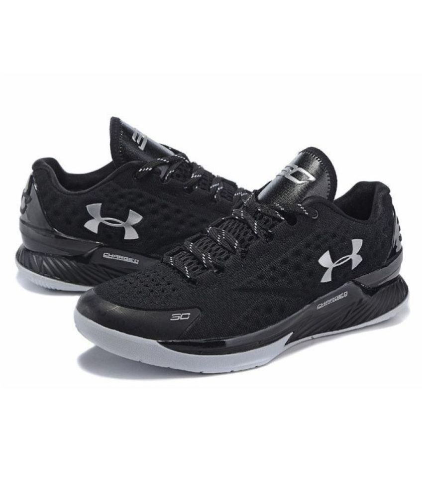 d732527bd Under Armour Men's Stephen Curry 1 Low Black Running Shoes - Buy ...