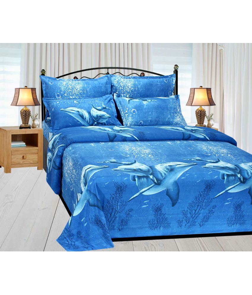 Delicieux Handloomhub PolyCotton Double Bedsheet With 2 Pillow Covers ...