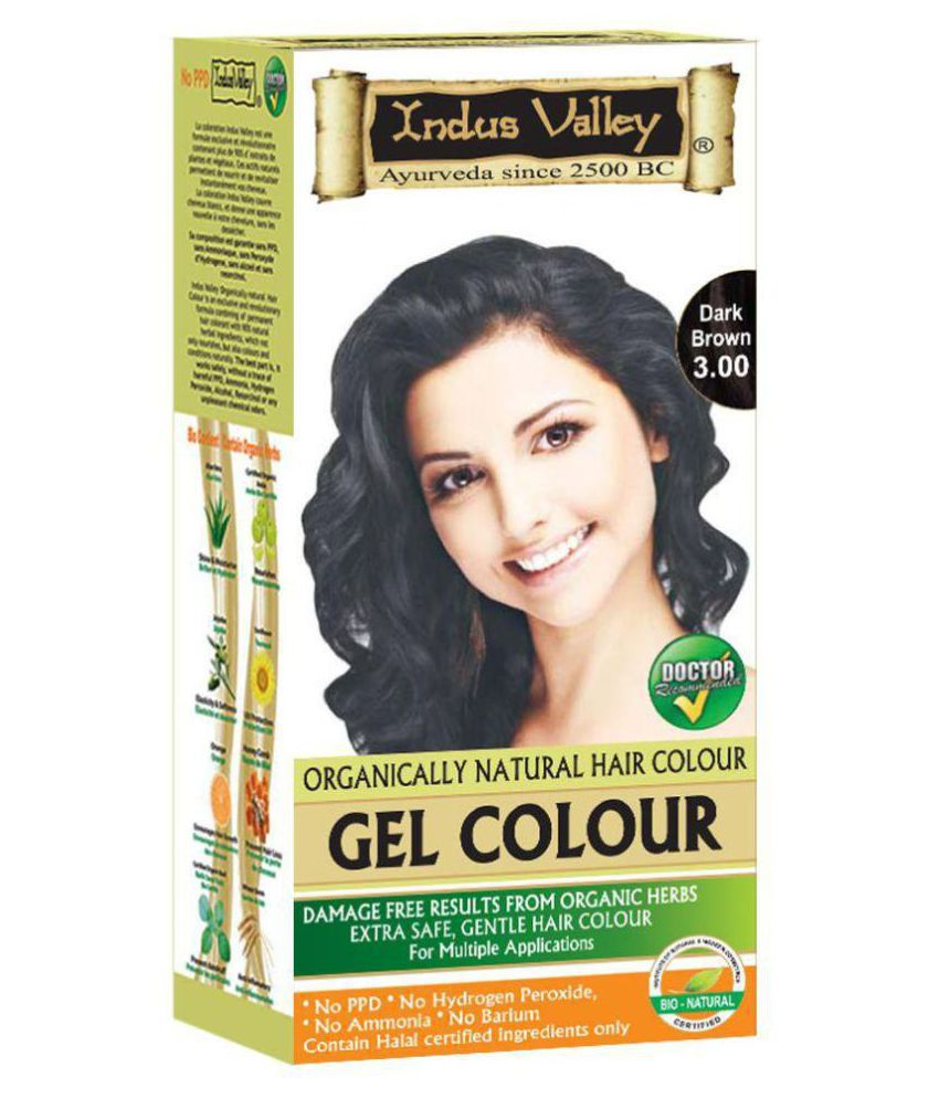 Indus Valley Permanent Hair Color Dark Brown 220 gm