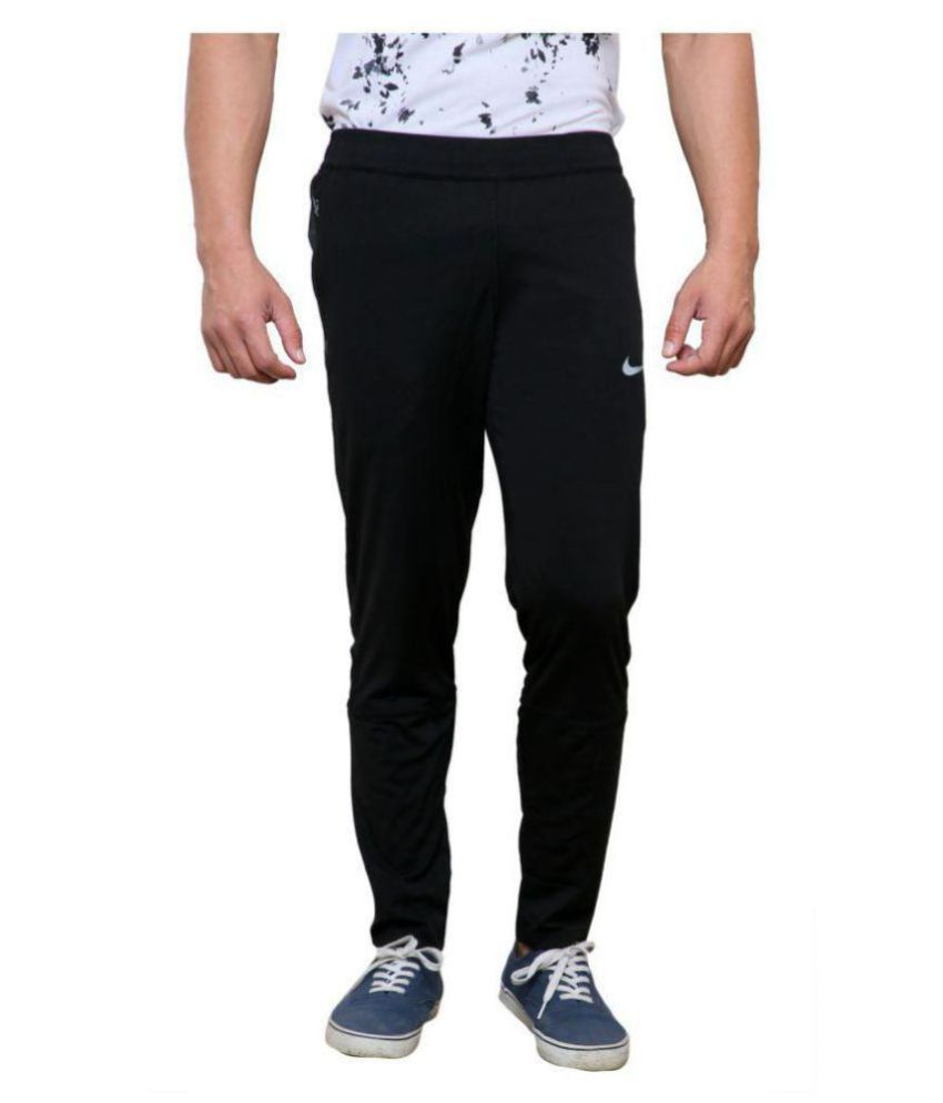 36867a5736e0 Black Polyester Lycra Track Pant - Buy Black Polyester Lycra Track Pant  Online at Low Price in India - Snapdeal