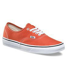 VANS Unisex Authentic Lifestyle Red Casual Shoes