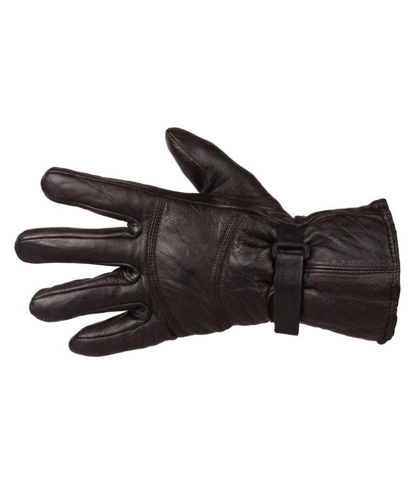 Indian Fashion Genuine Leather Black Gloves For Men's