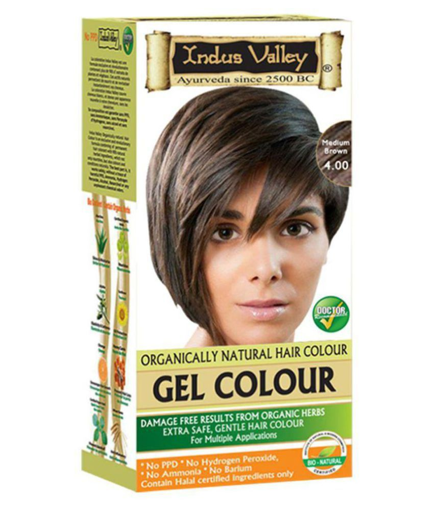 Indus Valley Permanent Hair Color Brown Medium 220 gm