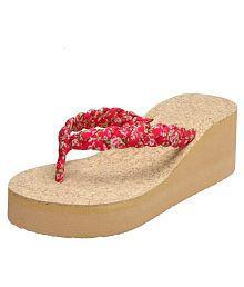 Vaniya shoes Red Slippers
