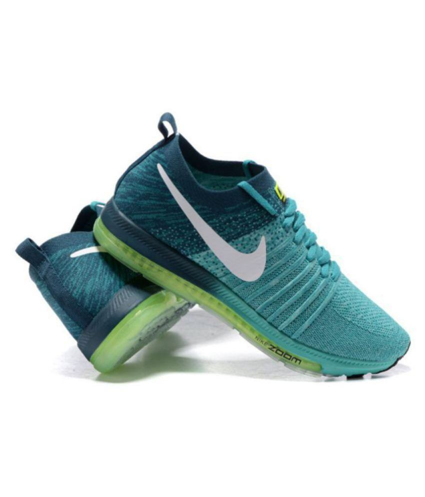 Nike Zoom All Out Flyknit Low Green Running Shoes - Buy Nike Zoom All Out  Flyknit Low Green Running Shoes Online at Best Prices in India on Snapdeal 7f186b55b