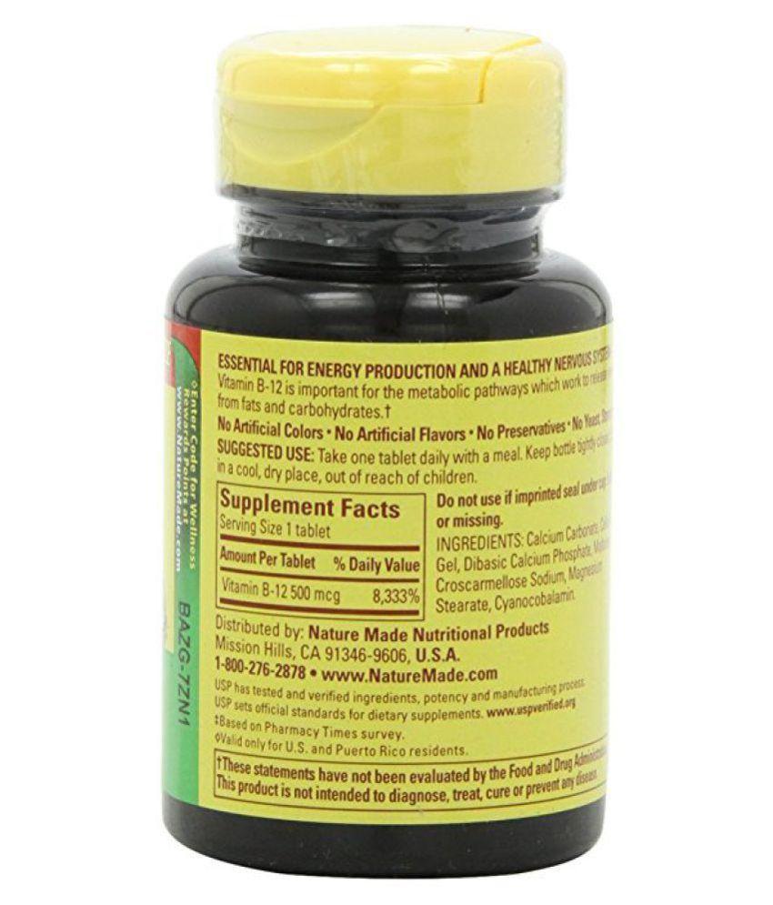 9914d0180de Nature Made Vitamin B-12 500 Mcg Tablets 1 gm  Buy Nature Made ...