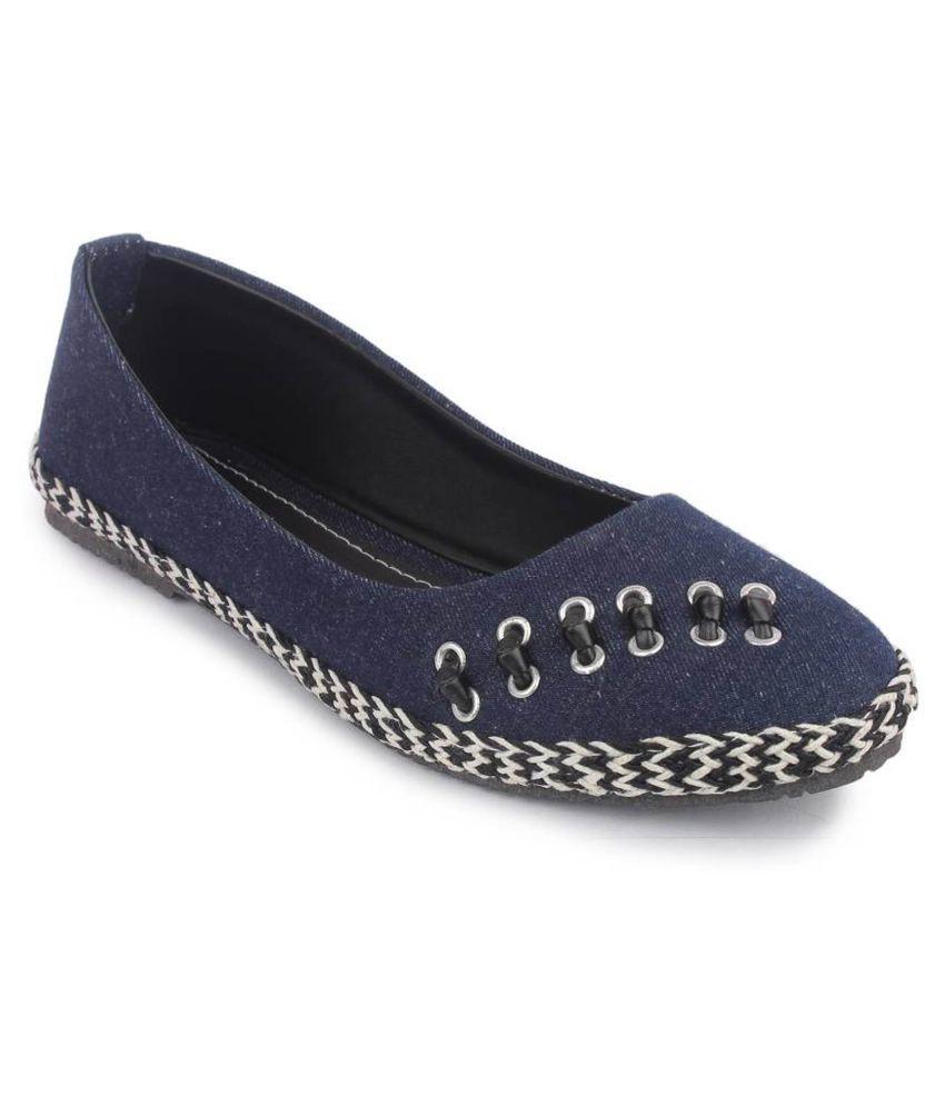 Vaniya Shoes Blue Ballerinas online sale online CqSi50