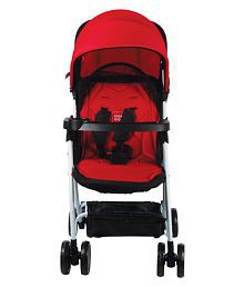 Mee Mee Comfortable Pram with 3 seating position (Red)