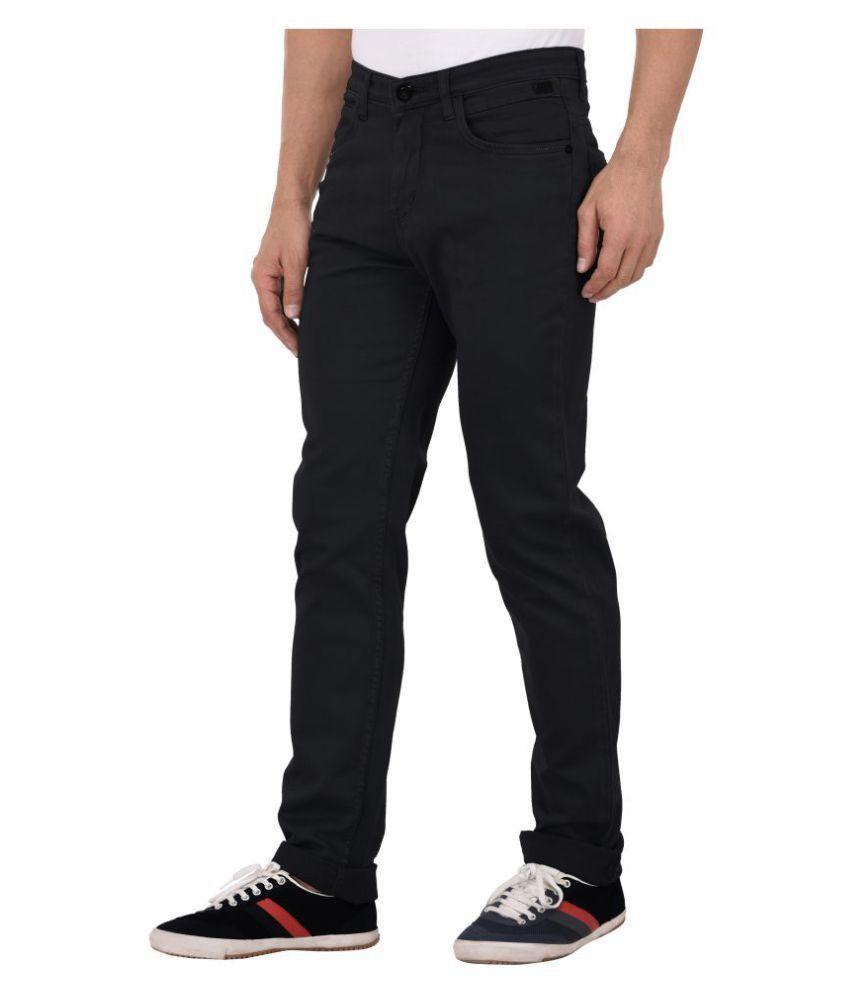 AFOX Black Slim Jeans