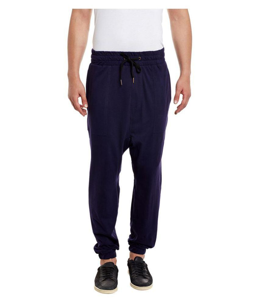 Hypernation Blue Cotton Trackpants Pack of 1