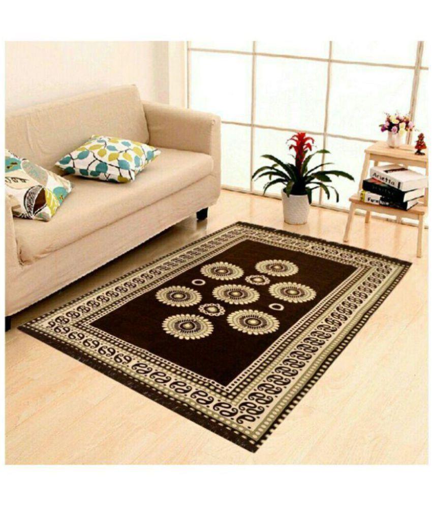 Mr. Badoli Brown Velvet Carpet Printed