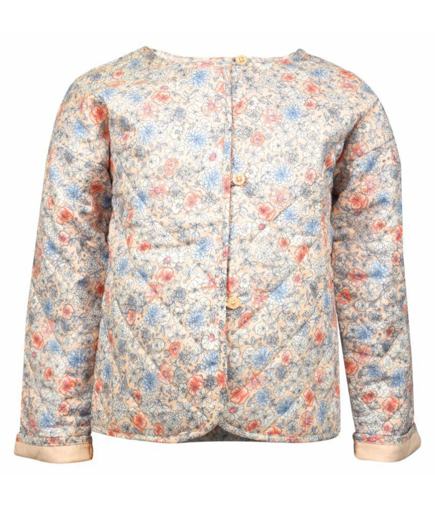 ShopperTree Girl Multi twill Round Neck Printed Full Sleeves Jacket