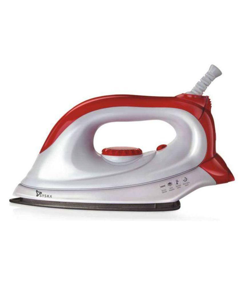 Syska SDI-01 1000W Dry Iron Pink