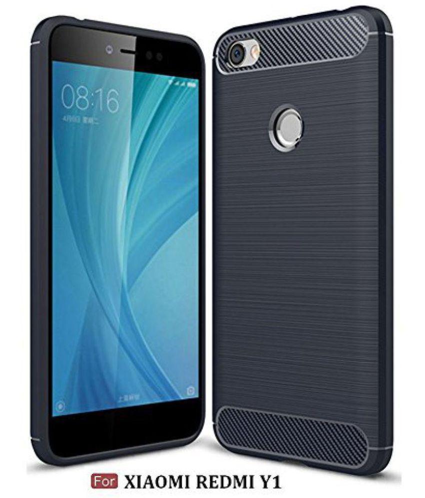 on sale 4d1e9 0b4da Xiaomi Redmi Y1 Plain Cases Tidel - Blue