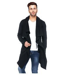 Tinted Men's Cotton Sinker Hooded Waterfall Cardigan